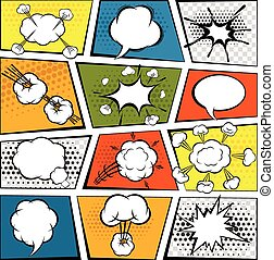 Comic Speech Bubbles Set