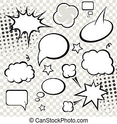 Comic Speech Bubbles. vector illustration.
