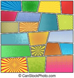 Comic strip background. Pop-art style. Vector EPS10 illustration.