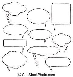 Comic style chat bubbles