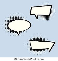 Comic Style Speech Bubble in Vector