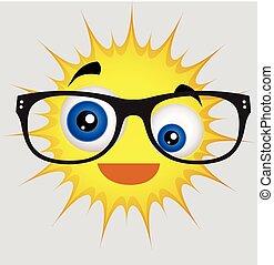 Comic Sun Smiley with Eyewear