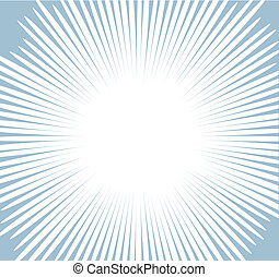 Comic Sunburst Vector Background