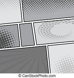 comic template Vector Pop-Art - Vector illustrator EPS 10