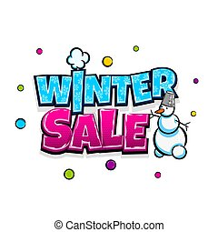 Comic text advertise winter sale
