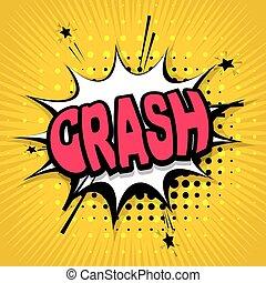 Comic text background crash