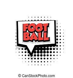 Comic text football sound effects pop art