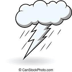 Comic Thunder Burst Cloud Vector - Retro Art of Comic...