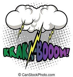 Comic thunder storm