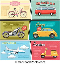 Comic Transport Mini Posters Set