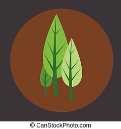 Comic Trees Vector