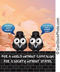 Comical capitalism - Comical bird anti capitalism ...