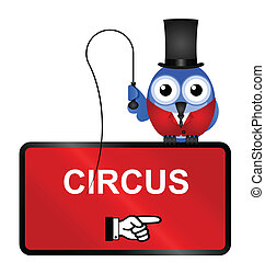Circus Sign - Comical Circus Sign isolated on white...
