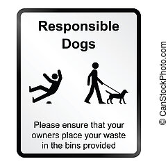 Comical responsible dogs Informatio - Monochrome comical...