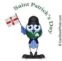 Saint Patrick Day - Comical Saint Patrick Day bird isolated ...