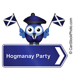 Hogmanay party sign