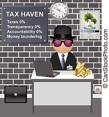 Comical tax haven investor paying no tax with zero ...