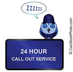 twenty four call out service sign - Comical twenty four call...