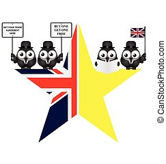 Comical UK exit from the European Union symbol - Comical UK...