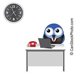 worker clock watching