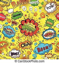 comico, discorso, bolle