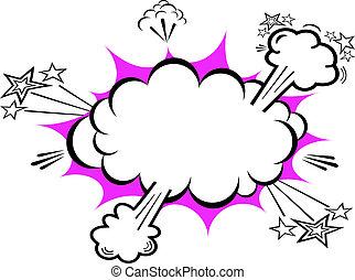 comico, esplosione, boom