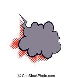 Comics book dialog empty cloud