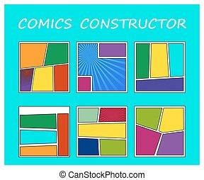 Comics book element