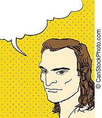 comics, carattere, bolla, speech., vettore, illustrazioni, ...