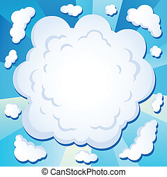 Comics cloud theme image 1 - vector illustration.