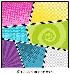 Comics? - Comics pop art style blank layout template with...