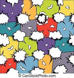 Comics dialog empty cloud, bubble