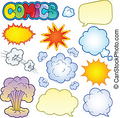 Comics elements collection 1 - vector illustration.