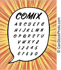 Comics or House Sign Handwritten Font in Vector