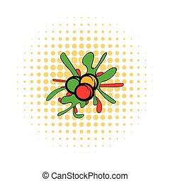 comics, paintball, palle, icona