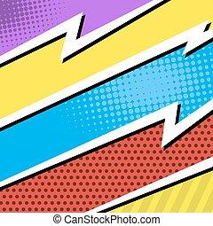 Comics pop-art style blank layout template background vector illustration