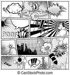 comics, sagoma