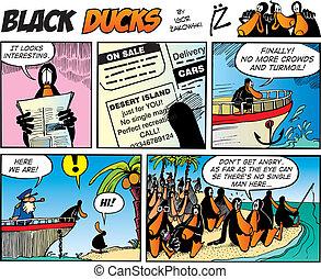 comics, schwarz, enten, episode, 25