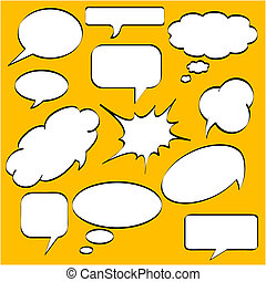 comics, stile, discorso, bolle