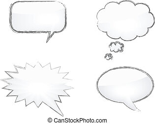 Comics Word and Thought Bubbles - vector illustration of...