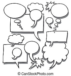 Comics Word and Thought Bubbles With Space For Text