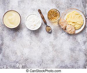 comida dieta, para, a, doente, estômago