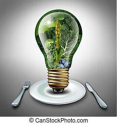 comida, sano, idea