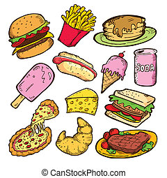 comida vulgar, doodle