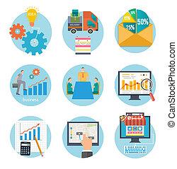 comienzo, infographic, empresa / negocio, plantilla