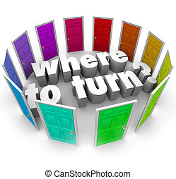 comienzo, pregunta, vuelta, lugar, perplejo, dónde, mejor