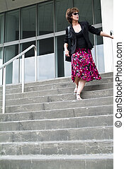 Coming Down the Steps