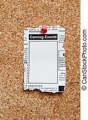 Coming Events Classifieds - Fake Classified Ad, newspaper, ...