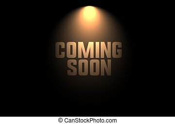 coming soon background with spot light design