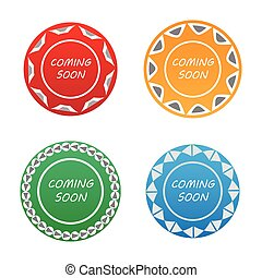 coming soon badge label set